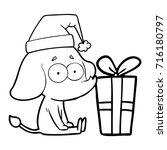 cartoon unsure elephant sat on...   Shutterstock .eps vector #716180797