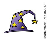 cartoon wizard hat | Shutterstock .eps vector #716189047