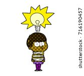 cartoon curious boy with lots...   Shutterstock .eps vector #716190457