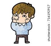 cartoon curious man   Shutterstock .eps vector #716192917