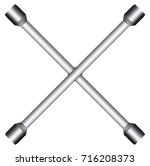 crossed wheel wrench   icon  | Shutterstock .eps vector #716208373