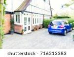 uk house residential driveway ... | Shutterstock . vector #716213383