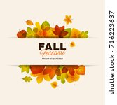 fall festival modern minimalist ... | Shutterstock .eps vector #716223637