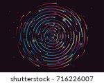 abstract geometric vortex ... | Shutterstock .eps vector #716226007