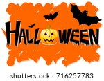 halloween card | Shutterstock . vector #716257783