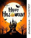 halloween   happy halloween  | Shutterstock . vector #716257957