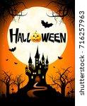 halloween poster | Shutterstock . vector #716257963