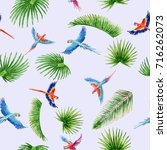 watercolor seamless pattern... | Shutterstock . vector #716262073
