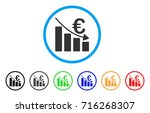 euro recession bar chart icon.... | Shutterstock .eps vector #716268307