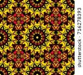 decorative folkloric seamless... | Shutterstock .eps vector #716278393