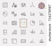 set of modern thin line icons...   Shutterstock .eps vector #716278987