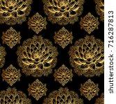 refined indian seamless pattern ... | Shutterstock .eps vector #716287813