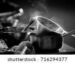 kitchenware  stainless steel... | Shutterstock . vector #716294377