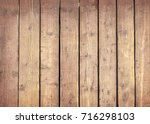 Natural Wooden Background With...