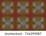 raster winter pattern. raster... | Shutterstock . vector #716299087