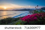 sunset on the pacific north... | Shutterstock . vector #716300977