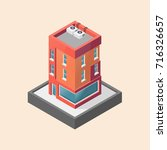 apartment building isometric | Shutterstock .eps vector #716326657
