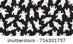 bear polar bear dance seamless... | Shutterstock .eps vector #716331757