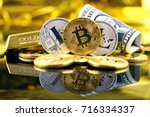 physical version of bitcoin and ... | Shutterstock . vector #716334337