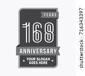 168 years anniversary design...   Shutterstock .eps vector #716343397
