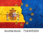 european union and spanish... | Shutterstock . vector #716345203