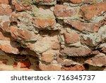 Vintage Red Bricks In An Old...