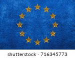 european union background   3d... | Shutterstock . vector #716345773