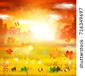 autumn. | Shutterstock .eps vector #716349697