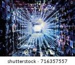 computing machine series.... | Shutterstock . vector #716357557