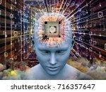 mind processor series. 3d... | Shutterstock . vector #716357647