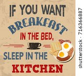 if you want breakfast in the...   Shutterstock .eps vector #716366887