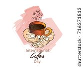 international coffee day    Shutterstock .eps vector #716371813
