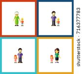 flat icon people set of grandma ... | Shutterstock .eps vector #716377783