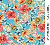 floral seamless pattern.... | Shutterstock . vector #716385853