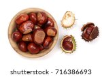 Chestnut In A Wooden Bowl...