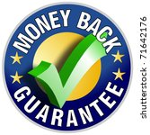 money back guarantee button...