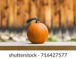 Vibrant Orange Pumpkin Sitting...