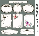 vector set of vintage tags and... | Shutterstock .eps vector #716434837
