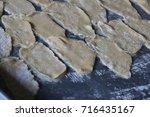 deep fried flour sheets and...   Shutterstock . vector #716435167