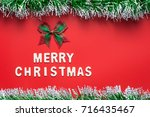 merry christmas words and... | Shutterstock . vector #716435467