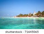 beach on isla mujeres  mexico | Shutterstock . vector #71645065