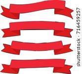 retro flat ribbon red... | Shutterstock .eps vector #716459257
