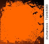halloween background with place ... | Shutterstock . vector #716465083