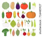 vector illustration of cartoon... | Shutterstock .eps vector #716485927
