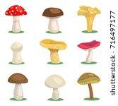 a set of mushrooms | Shutterstock .eps vector #716497177