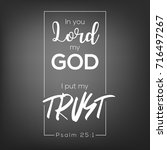 in you lord my god  i put my...   Shutterstock .eps vector #716497267