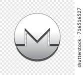 monero coin symbol isolated web ... | Shutterstock .eps vector #716516527