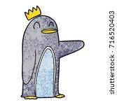 cartoon emperor penguin | Shutterstock .eps vector #716520403