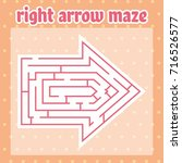 right arrow maze  labyrinth for ... | Shutterstock .eps vector #716526577