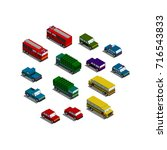 isometric car pack | Shutterstock .eps vector #716543833